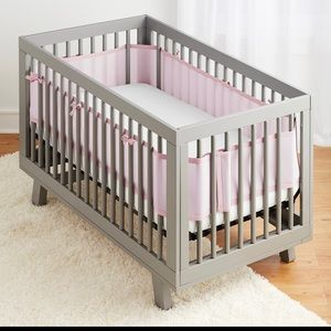 Other - Classic Breathable Mesh Crib Liner – Light Pink